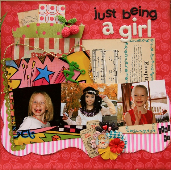 Just being a girl - resized