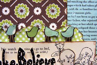 Make believe close-up birdies