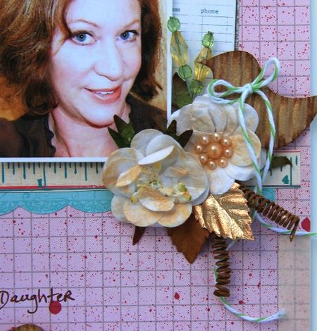 Happy Mother's Day layout close-up