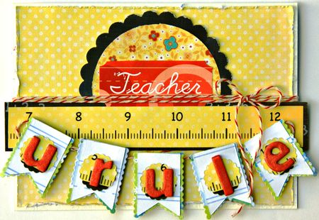 Teacher u rule card